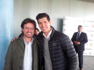 Con Albert Luque
