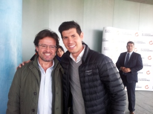 Con Albert Luque