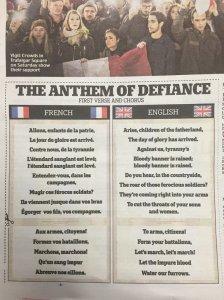 La Marsellesa en el Daily Mail